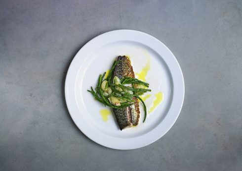 Skate wing with samphire
