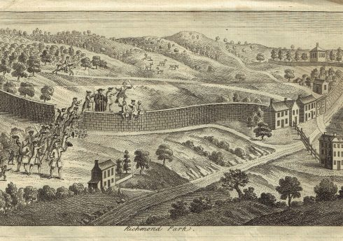 Incursion into Richmond Park. From 1751 book Courtesy of The Hearsum Collection