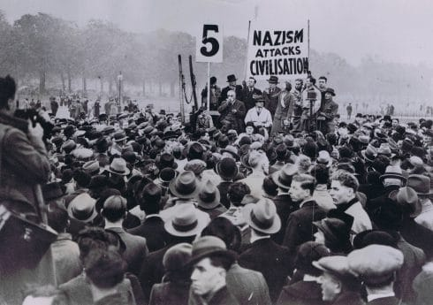 H1070 – Sylvia Pankhurst at demo. 1935. ACME Newspictures