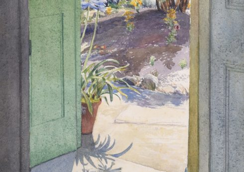 Phyllis Dodd (1899-1995), Summer Doorway with African Lilies, c.1948, Image courtesy of Liss Llewellyn